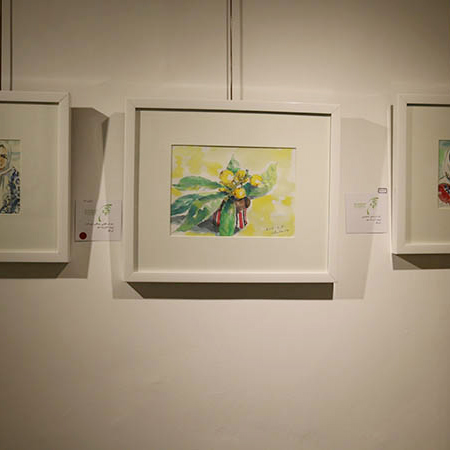 نمایشگاه نقاشیهای هنرمند ژاپنی در گورابجیر صحرا برگزار شد