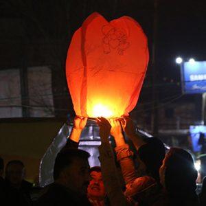 خمام - اولین جشنواره بالن آرزوها در خمام برگزار شد
