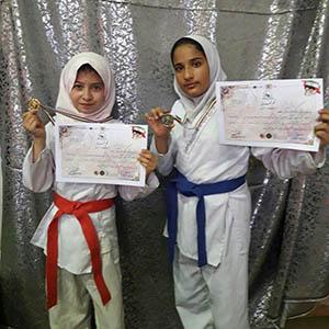 خمام - کسب ۱ مدال طلا و ۱ مدال نقره برای خمام در جشنواره یکروزه کاراته دختران گیلان