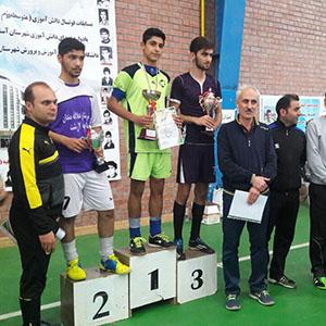 خمام - قهرمانی تیم مدرسه شهید زحمتکش در مسابقات فوتسال دانشآموزی گیلان