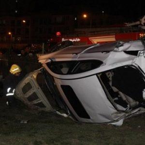 خمام - تصادف مرگبار بر اثر واژگونی خودروی سوناتا
