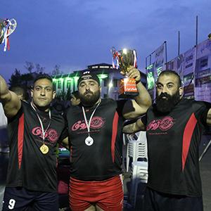 خمام - نائب قهرمانی شرکت کننده خمام در سومین دوره از مسابقات فرا استانی قویترین مردان