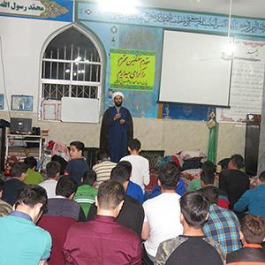 خمام - برگزاری مراسم اعتکاف در مسجد امام حسین (ع) خواچکین