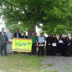 خمام - همایش پیادهروی خانوادگی در روستای تیسیه برگزار شد
