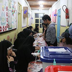 خمام - حضور پرشور مردم بخش خمام در حوزههای انتخابیه