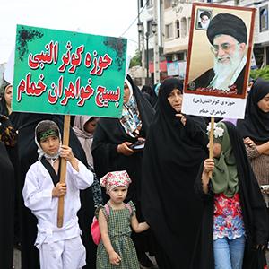 راهپیمایی عفاف و حجاب در خمام برگزار شد