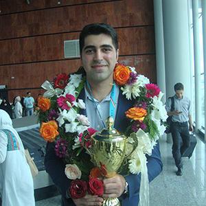 خمام - از استادبزرگ امیررضا پوررمضانعلی در فرودگاه رشت استقبال شد