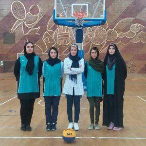 خمام - نائب قهرمانی تیم بانوان خمام در مسابقات بسکتبال ٣ نفره گرامیداشت دهه کرامت