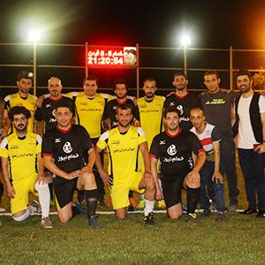 خمام - دیدار دوستانه فوتبال بین تیمهای خمامنیوز و هنرمندان فومن به تساوی انجامید