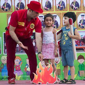 خمام - جشنواره ایمنی و آتشنشانی در خمام برگزار شد