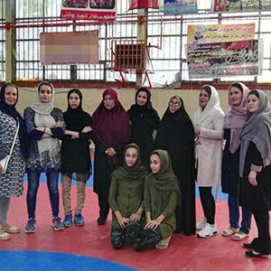 خمام - قهرمانی تیم بانوان خمام در مسابقات آمادگی جسمانی بخشهای شهرستان رشت