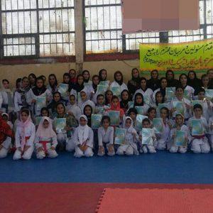 خمام - کسب ۴ مدال طلا، ۴ نقره و ۶ برنز  توسط بانوان خمامی در مسابقات استانی کاراته