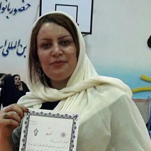 خمام - نائب قهرمانی آرزو حسینزاده در رقابتهای آمادگی جسمانی استان گیلان