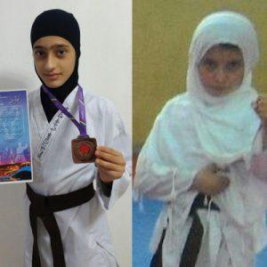 خمام - کسب ۱ مدال طلا و ۱ برنز توسط بانوان خمامی در مسابقات قهرمانی کاراته کشور