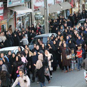 خمام - مردم خمام در اعتراض به جنایت هولناک تجاوز و قتل اهورا راهپیمایی کردند