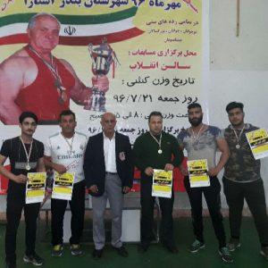 خمام - ۳ مدال طلا، ۲ نقره و ۱ برنز در رقابتهای قهرمانی پرس سینه استان گیلان