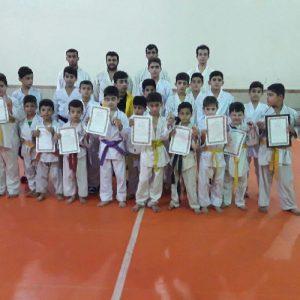 خمام - درخشش تیم ۷ تا ۱۷ سال خمام در رقابتهای کاراته قهرمانی شهرستان بندرانزلی