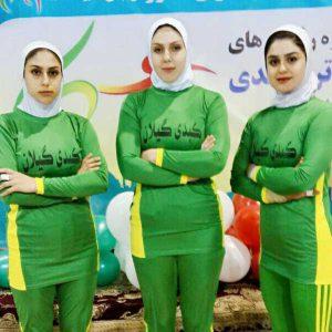 خمام - تیم کبدی بانوان گیلان به مرحلهی نیمهنهایی لیگ برتر صعود نمود