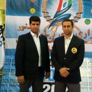 خمام - داور خمامی در مسابقات لیگ کاراته کشور به قضاوت میپردازد