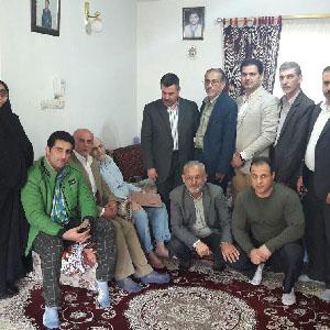 دیدار اهالی ورزش با خانواده شهید موسوی