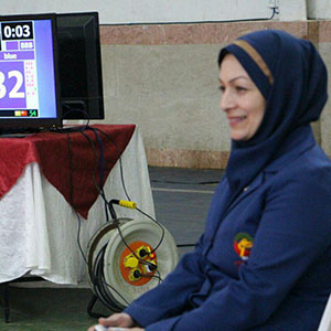 خمام - فاطمه باقرینژاد در لیگ تکواندو کشور به قضاوت پرداخت