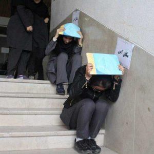 خمام - مانور «زلزله و ایمنی» در مدارس بخش خمام برگزار شد