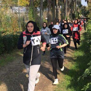 خمام - بیتا اسمعیلی به قهرمانی مسابقه دو صحرانوردی گیلان دست یافت