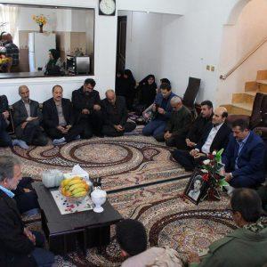 خمام - دیدار مسئولین با خانوادههای شهید عباسی، حسینپور، یوسفپور و نعیمی