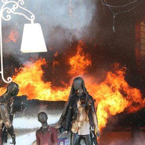 خمام - آتش سوزی در فروشگاه هپیلند مهار شد