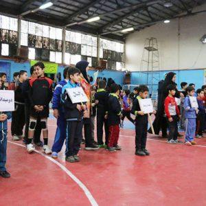 خمام - المپیاد ورزشی درون مدرسهای در سالن تختی برگزار شد