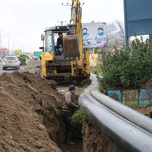 خمام - پروژه لولهگذاری برای آبرسانی به شهر خمام از تصفیه خانه بزرگ گیلان کلید خورد