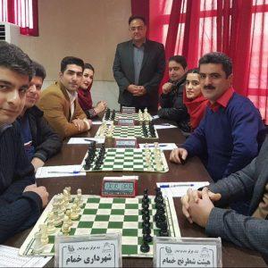 خمام - هیات شطرنج خمام با نتیجه ۳ بر ۱ تیم شهرداری خمام را مغلوب کرد