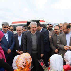 خمام - معاون رئیس جمهور و رئیس سازمان میراث فرهنگی از طرح اکوتوریسم جیرسر باقرخاله بازدید کرد