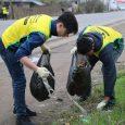 طرح پاکسازی زباله در بالامحله چوکام اجرا شد