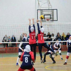 خمام - هیات والیبال انزلی در لیگ والیبال بانوان گیلان به قهرمانی دست یافت