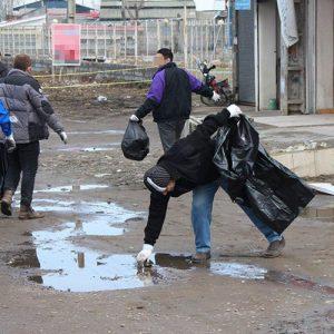 خمام - طرح پاکسازی معابر اصلی از زباله آغاز شد