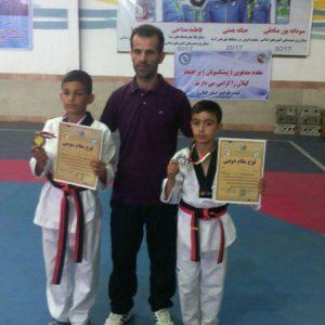 خمام - رزمیکاران خمامی در رقابتهای تکواندوی خردسالان گیلان به ۱ مدال نقره و ۱ برنز دست یافتند