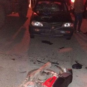 خمام - ۱ مرد و ۲ زن در حادثهی برخورد موتورسیکلت با خودروی پراید مصدوم شدند