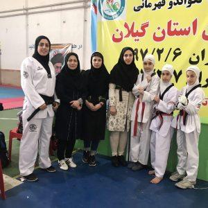 خمام - بانوان تکواندوکار خمامی در رقابتهای نونهالان استان گیلان به ۱ مدال طلا و ۱ برنز دست یافتند