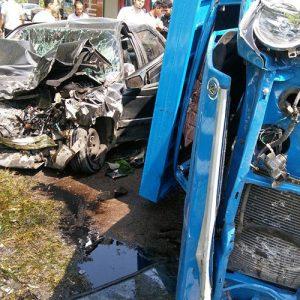خمام - ۴ مصدوم در حادثه تصادف نیسان با پیکانوانت و پژو ۴۰۵