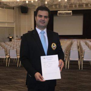 خمام - علیرضا نوروزی بالاترین درجه داوری کاراته آسیا را کسب کرد