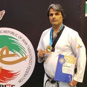خمام - کامبیز غلامیصفت به مدال برنز مسابقات آزاد قهرمانی هانمادانگ کشور دست یافت