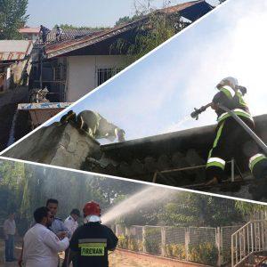 خمام - یک باب خانه ویلایی در چوکام دچار آتش سوزی شد