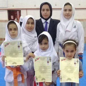 خمام - کسب ۱ مدال طلا، ۱ نقره و ۳ برنز توسط دختران خمامی در مسابقات استانی کاراته