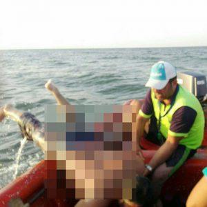خمام - نجات جوان ۲۸ ساله رشتی از غرق شدن در ساحل جفرود بالا