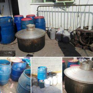 خمام - ۱,۴۰۰ لیتر مشروبات الکلی در یک کارگاه خانگی کشف و ضبط شد