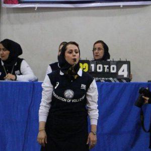 خمام - آرزو خوبانی در رقابتهای لیگ دسته دوم والیبال کشور به قضاوت میپردازد