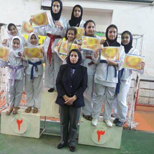 خمام - درخشش کاراتهکاهای خمامی در رقابتهای قهرمانی بانوان استان گیلان