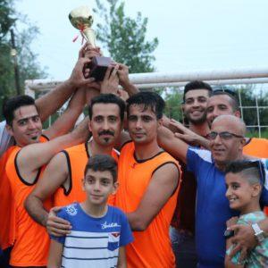 خمام - تیم مرحوم حجازی به قهرمانی پنجمین دوره از مسابقات فوتبال جام شهدای تیسیه دست یافت