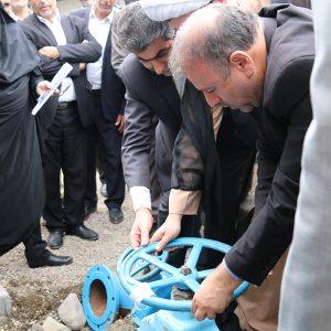 خمام - خط انتقال آب شرب از تصفیه خانه بزرگ گیلان به مخزن خمام مورد بهرهبرداری قرار گرفت